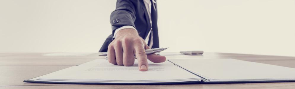 Signera villkor för lån